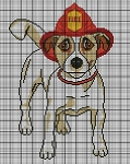 Jack Russel With Fire Hat Crochet Pattern