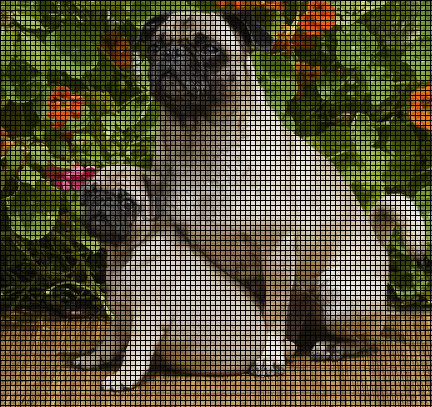 Pug Puppy With Mom Crochet Pattern