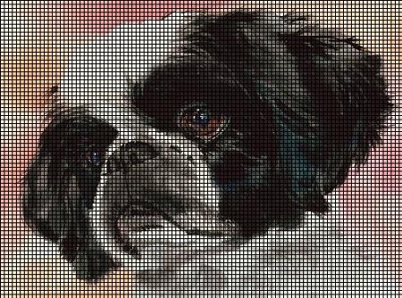 Shih Tzu Face Crochet Pattern