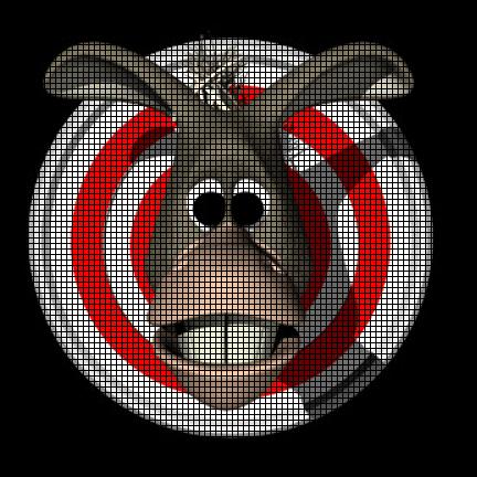 Donkey Bullseye Crochet Pattern