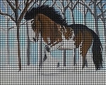 Winter Clydesdale Horse Crochet Pattern