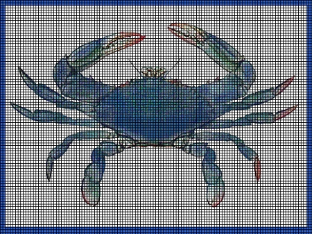 Blue Crab Crochet Pattern