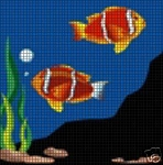Clown Fish Swimming Crochet Pattern
