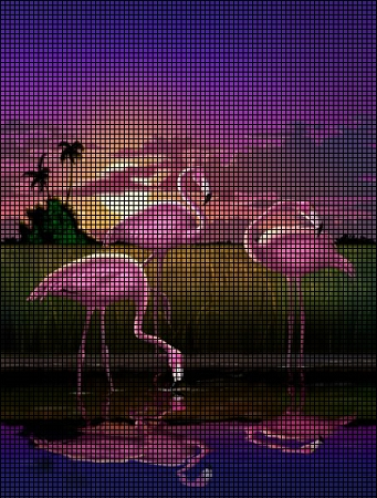 Flamingos In The Moonlight Crochet Pattern