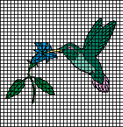 Hummingbird Flower Crochet Pattern