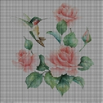 Hummingbird Roses Crochet Pattern