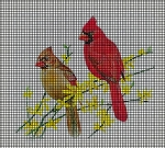 Sitting Cardinals Crochet Pattern