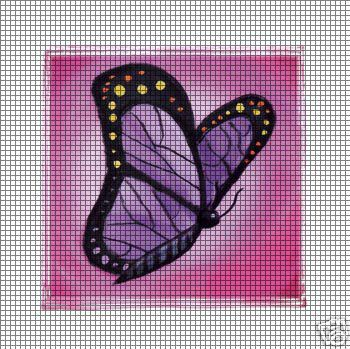 Pink Butterfly Crochet Pattern