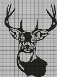 Buck Black & White Crochet Pattern