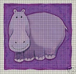 Purple Hippo Crochet Pattern