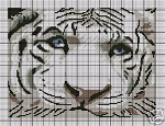 White Tiger Face Crochet Pattern