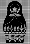 Black & White Russian Doll Crochet Pattern