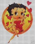 Betty Boop Blows A Kiss Crochet Pattern