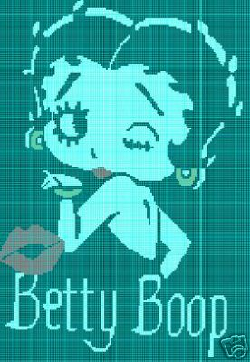 Betty Boop Red Lips Crochet Pattern