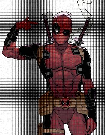 Marvel's Deadpool Doll Amigurumi Crochet Free Pattern | Wzory ... | 450x350