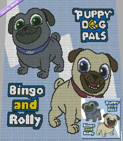 Bingo & Rolly Crochet Graph Pattern