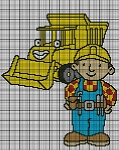 Bob The Builder With Truck Crochet Pattern