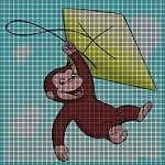 Curious George Fly's A Kite Crochet Pattern
