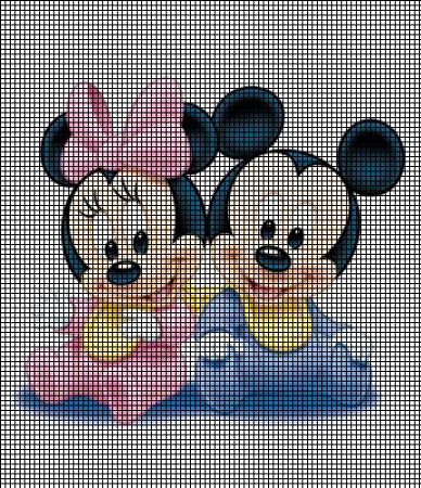 Baby Mickey & Minnie Mouse Crochet Pattern