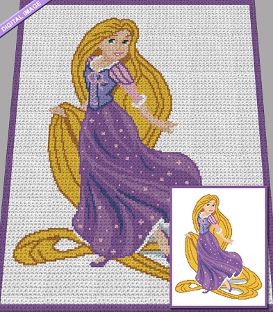 Princess Rapunzel Crochet Pattern