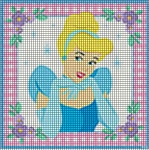 Princess Cinderella Square Crochet Pattern