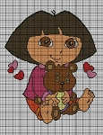 Baby Dora & Teddy Bear Crochet Pattern