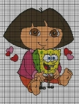 Dora Holds SpongeBob Crochet Pattern