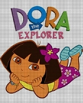 Dora Laying Down Crochet Pattern