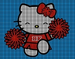 Hello Kitty Cheerleader Crochet Pattern
