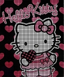 Hello Kitty Pink Hearts Crochet Pattern