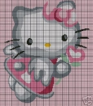 Hello Kitty Holds A Flower Crochet Pattern