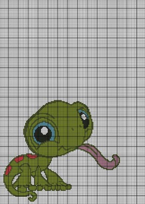 Littlest Pet Shop Cute Lizard Crochet Pattern