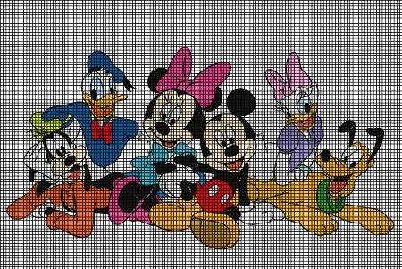 Disney Group Crochet Pattern