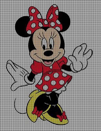 Hello Minnie Mouse Crochet Pattern