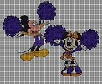 Mickey & Minnie Cheerleaders Crochet Pattern