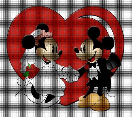 Mickey And Minnie Wedding.Mickey Minnie Wedding Day Crochet Pattern