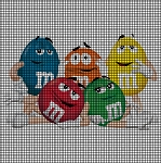M & M Candy Group Crochet Pattern