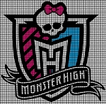 Monster High Logo Crochet Pattern