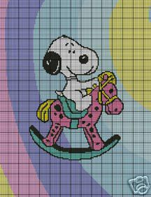 Baby Snoopy Rocking Horse Crochet Pattern