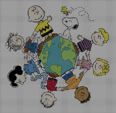 Peanuts Around the World Crochet Pattern