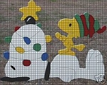 Snoopy Decorates For Christmas Crochet Pattern