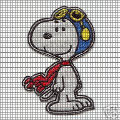 Snoopy Flying Ace Crochet Pattern