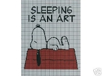 Snoopy Sleeping Is An Art Crochet Pattern