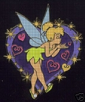 Tinkerbell Purple Heart Crochet Pattern