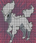 Ponyta Portrait Gray & White Crochet Pattern
