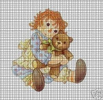 Raggady Ann With Teddy Bear Crochet Pattern