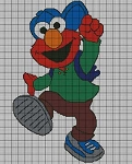 Elmo With Clothes Crochet Pattern