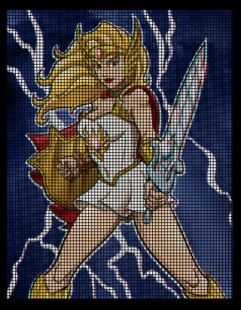 She-Ra Portrait Crochet Pattern