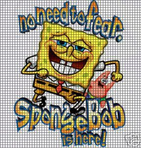 No Fear SpongeBob Crochet Pattern