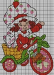 Strawberry Shortcake Bike Crochet Pattern